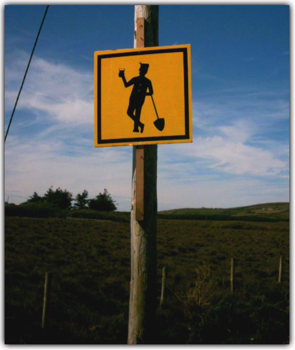 Road sign at Ballycroy, Co. Mayo, Ireland.