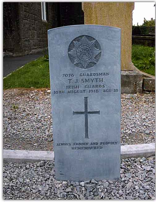 Grave of WWI Irish soldier who died 85 years ago; buried in Loughrea, Co.Galway