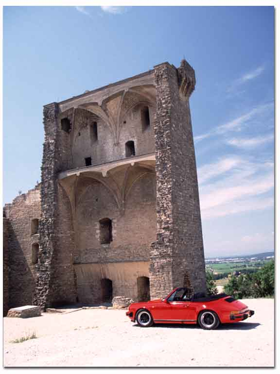 Remains of the papal castle, Chateauneuf-du-pape, France