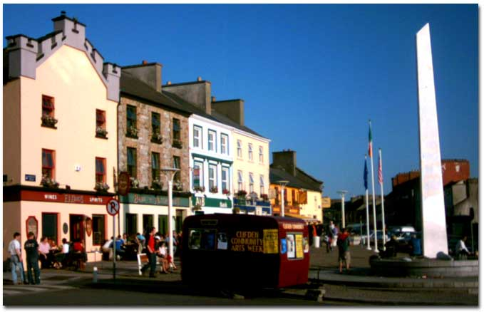 Clifden, Co. Galway bathed in Autumn sunshine