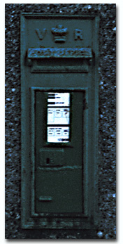 Victorian Era postbox in Galway. It works fine irrespective of the colour or shape of the envelope